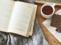 книга, чая, уют