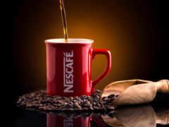 coffee, nescafe, circle