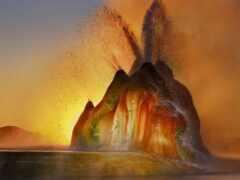 плоский, geyser, fly