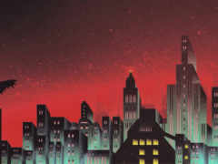 gotham, skyline, batman