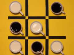 coffee, art, black