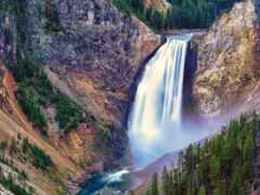 yellowstone, водопад, park