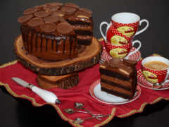 торты, чашка, сладости