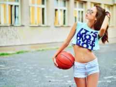 devushki, баскетбол, спортивных