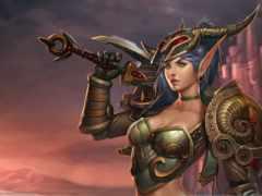 эльф, warcraft, женский