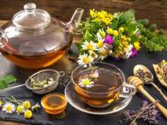 чая, травы, чайник