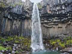 водопад, svartifoss, iceland