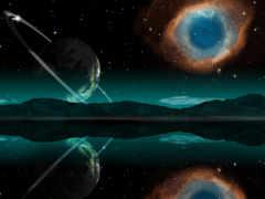nebula, глаз, god