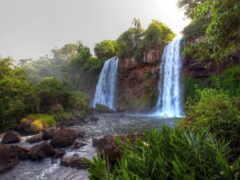 водопад, priroda, vodyt