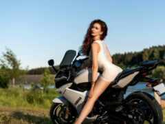 мотоцикл, платье, tight