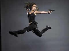 пистолет, девушка, саммер