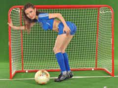 девушка, футбол бодиарт Фон № 16553 разрешение 1920x1200