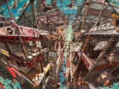 anime, город, картинка