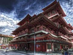buddha, singapore, храм
