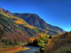 природа, окно, гора