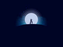 волк, луна, design