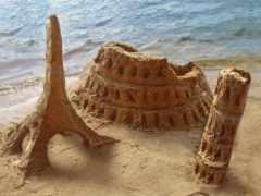 turret, пляж, песок