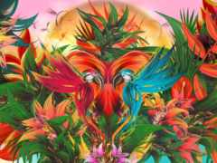 tropical, jungle, canvas