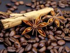 coffee, seed, cinnamon