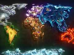 map, мира, стихии