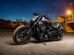 мотоцикл, harley, черная