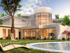 бассейн, house, современный