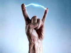 жест, козел, rock
