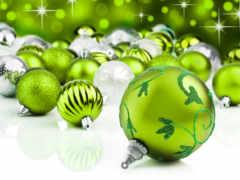 natal, verde, bolas