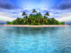 остров, океан, leto