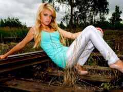 молодой, девушка, blonde