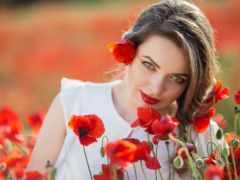 цветы, sash, девушка