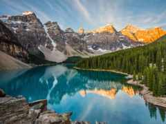 канада, озеро, морейн