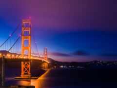 мост, ночь, francisco