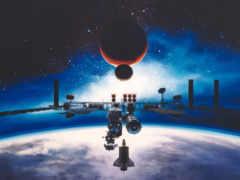 космическая, станция, art