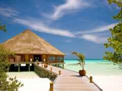 бунгало, пляж, ocean
