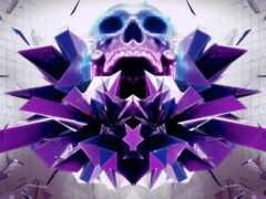абстракция, череп