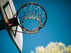 баскетбол, bỏng, обруч