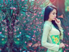 девушка, модель, традиционный