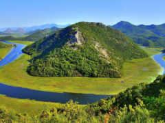 озеро, черногория, skadarskii