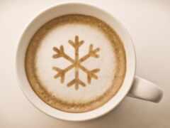 coffee, снежинка, cup