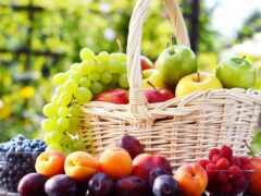 плод, корзина, ягода