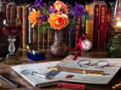 взлёт, книга, цветы
