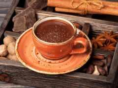 coffee, chocolate, напиток