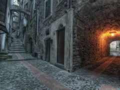 улица, дверь, арка