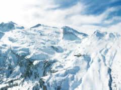 зима, горы, снега