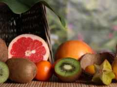 оранжевый, еда, фрукты