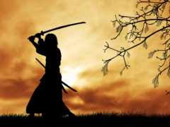 самурай, воин, меч
