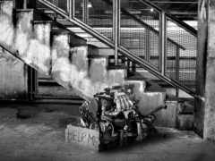 white, black, engine