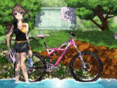 anime, bike, natsu