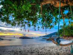 пляж, пхукет, andaman